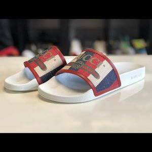 ca0058c12 Gucci Shoes - Gucci Logo Sylvie Slide Sandals